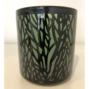 Enchanted Forest Green Candle Container