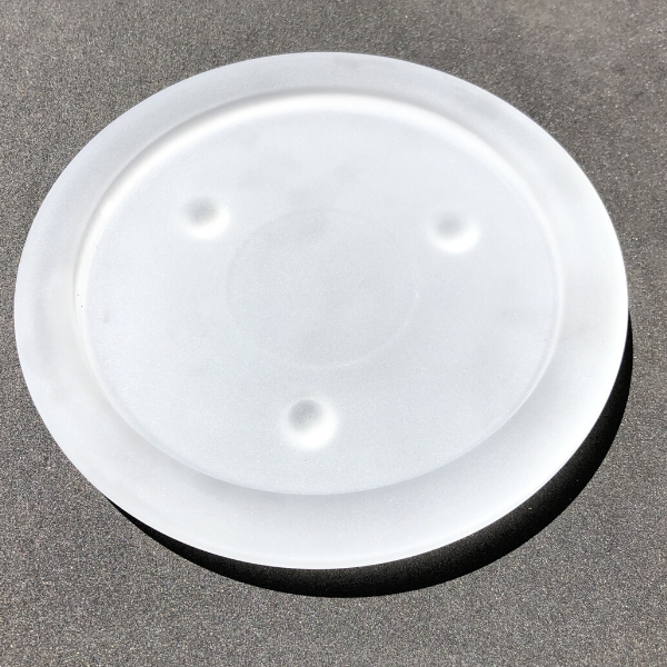 Frosted plate