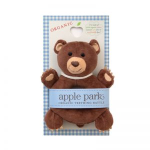 Cubby Soft Teething Rattle: Apple Park