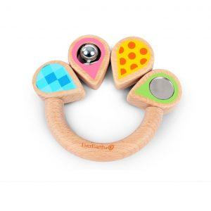 Pink Leaf Grasping Ring