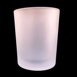Frosted Votive Candle Container