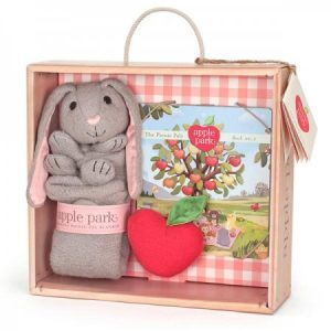 Bunny Blankie, Book and Rattle Gift Set - Apple Earth