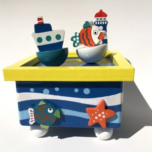 musical fish and boat