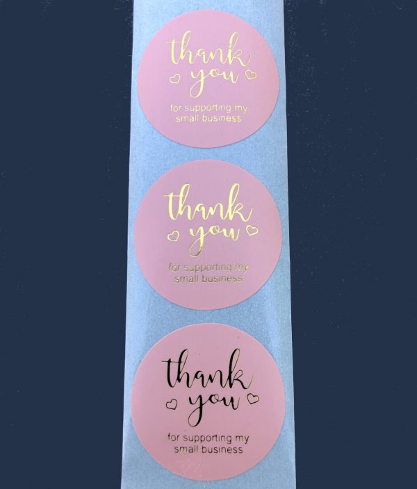 Thank You For Supporting My Small Business Stickers Type 5