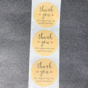 Thank You For Supporting Our Small Business Stickers